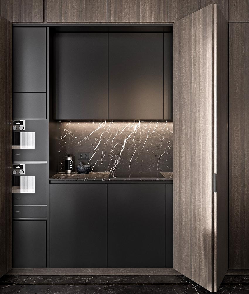 Кухню-шкаф целесообразно покупать в очень маленькую квартиру или на дачу