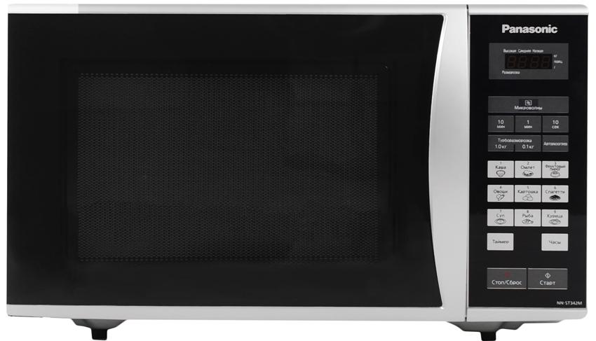 Микроволновка Panasonic NN-ST342M оснащена основными программами для подогрева и приготовления пищи