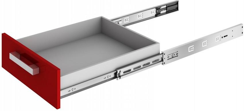 Размеры направляющих должны идеально соответствовать мебели, где будет устанавливаться ящик