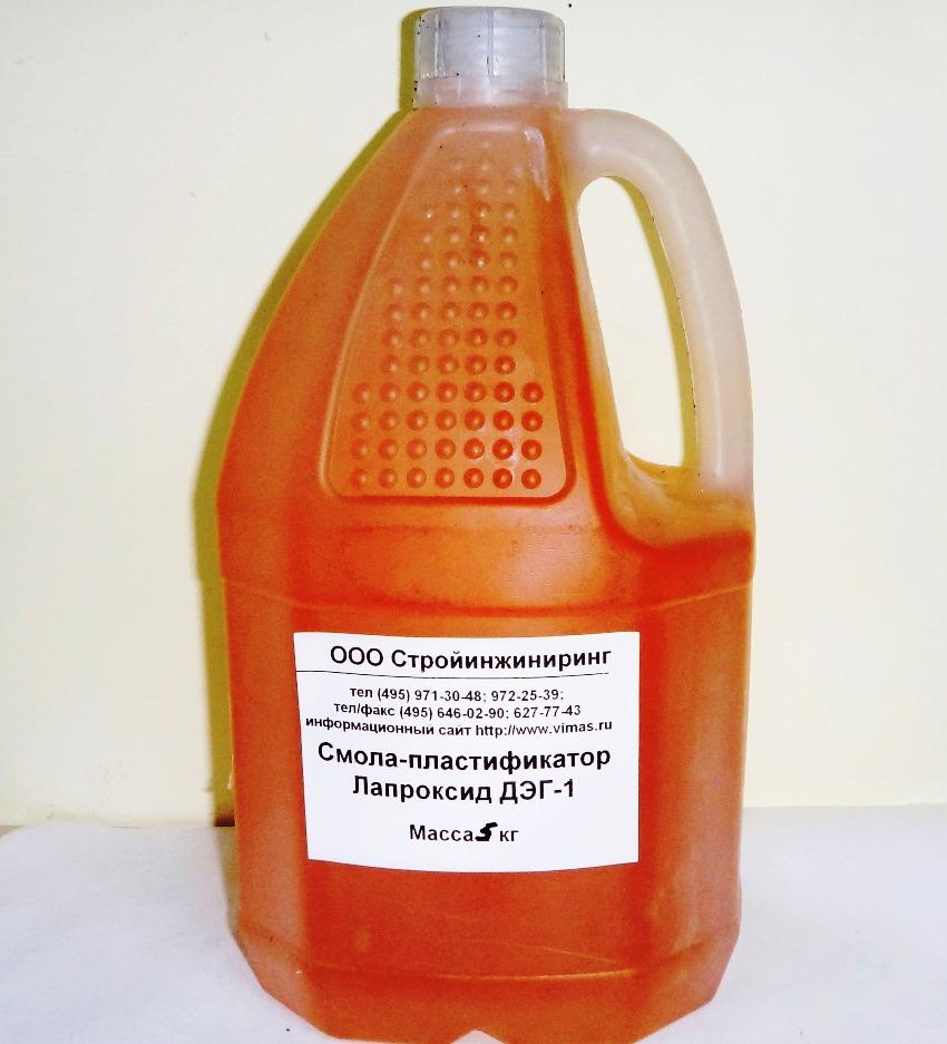 Пластификатор Лапроксид ДЭГ-1 является самым эффективным для эпоксидных смол