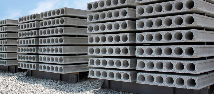 Плиты перекрытия устойчивы к изменениям влажности и температуры