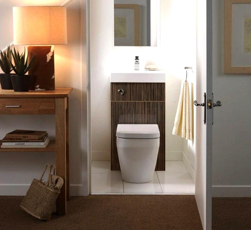 Уютный и удобный интерьер туалета можно создать даже в маленьком помещении