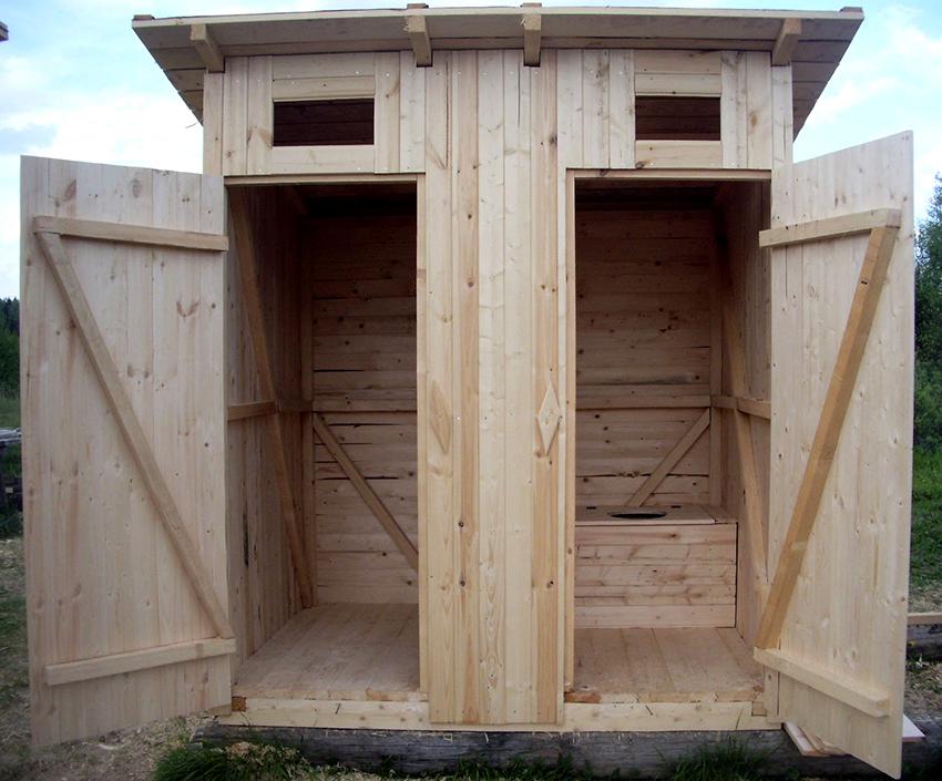 Минимальными оптимальными размерами уличного туалета считается ширина 1,2 и глубина 1,5 м