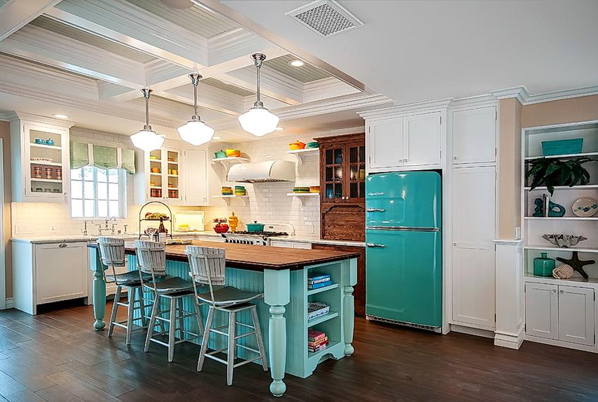 Габариты холодильника должны визуально соответствовать размерам помещения