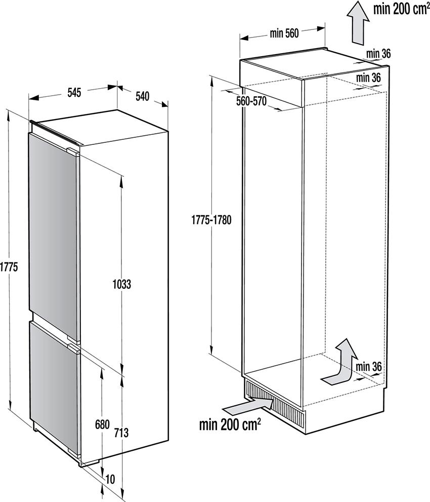 От высоты холодильника будет зависеть его объем, а значит и вместительность