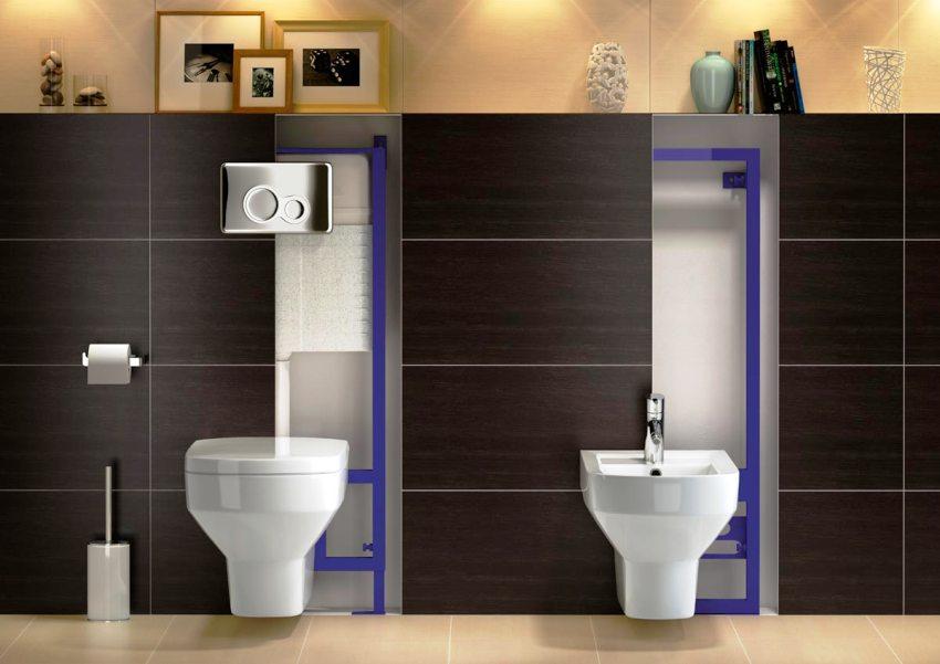 Свободное пространство между передним краем унитаза и стеной должно составлять 50–60 см