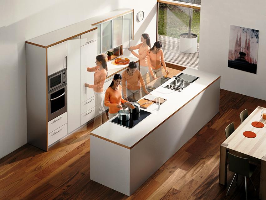 Идеальная планировка на кухне – когда человек не совершает лишних движений, так как все находится под рукой
