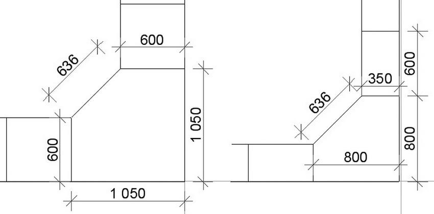 Самые распространенные габариты угловых шкафов – это 60х60 см