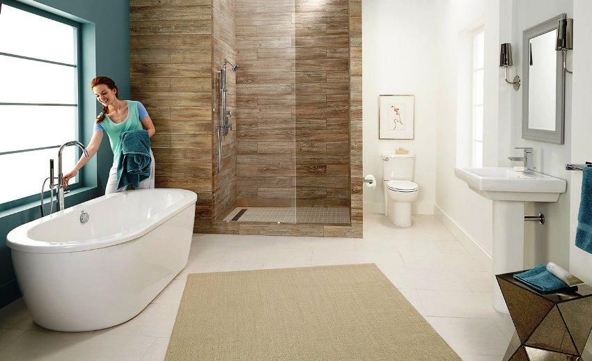 Стандартная длина ванны может составлять 120, 150 или 170 сантиметров