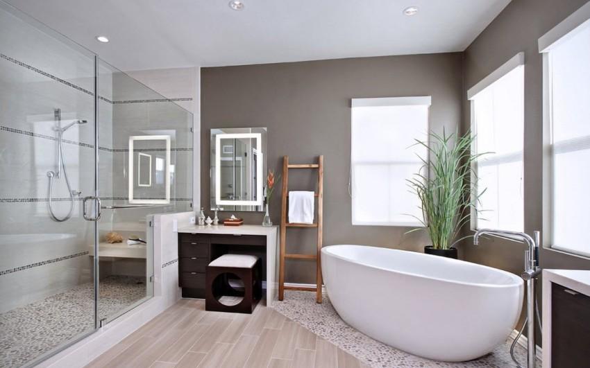 Площадь большой ванной комнаты начинается от 10 кв. м