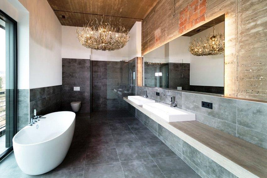 Чтобы создать рациональный интерьер, обязательно следует учитывать габариты ванной комнаты