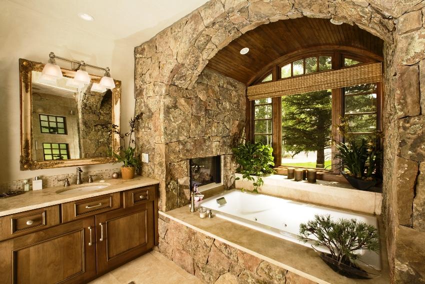 В прямоугольной ванной все элементы должны располагаться в досягаемости руки