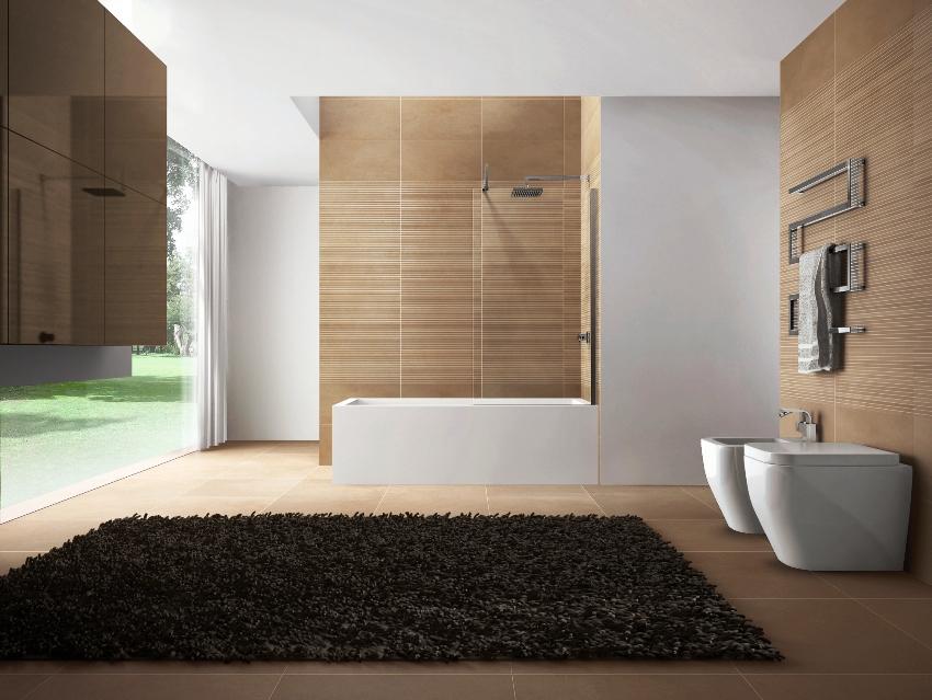 Панели под плитку устойчивы к повышенной влажности, а также способны имитировать фактуру кафеля