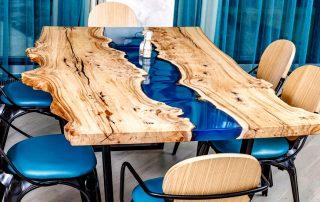 Стол из эпоксидной смолы: оригинальный дизайн и доступное изготовление