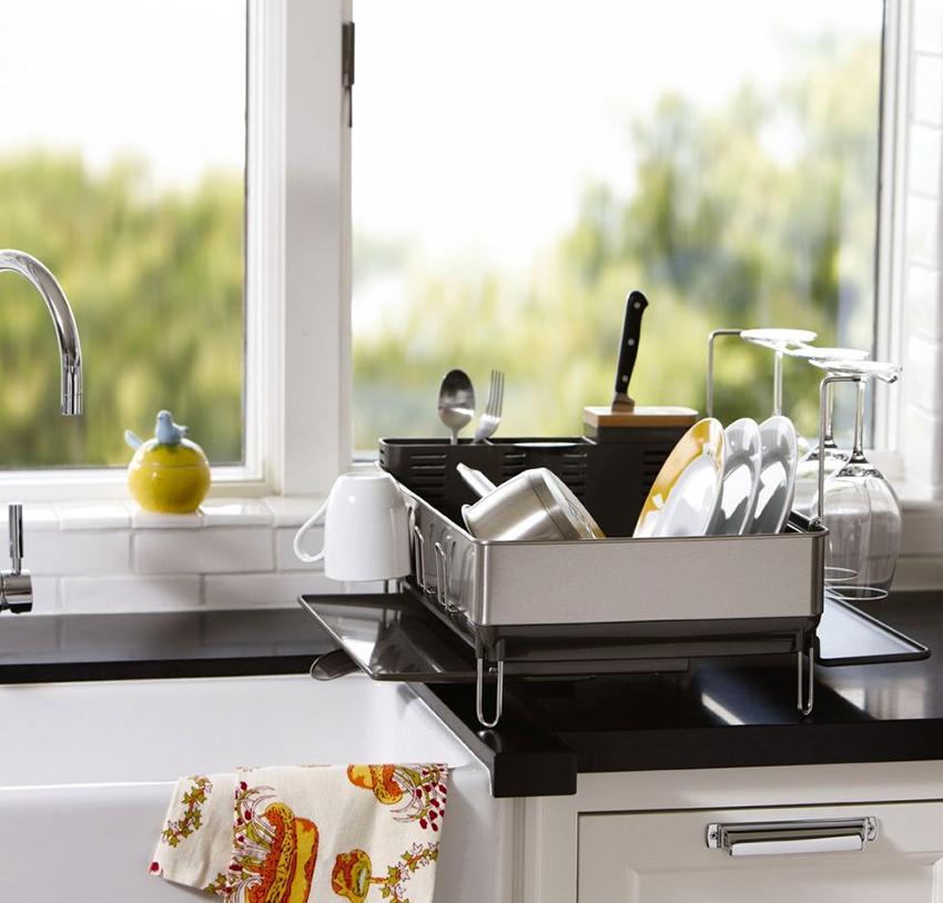Стандартные сушилки для посуды имеют размеры от 40 до 80 см