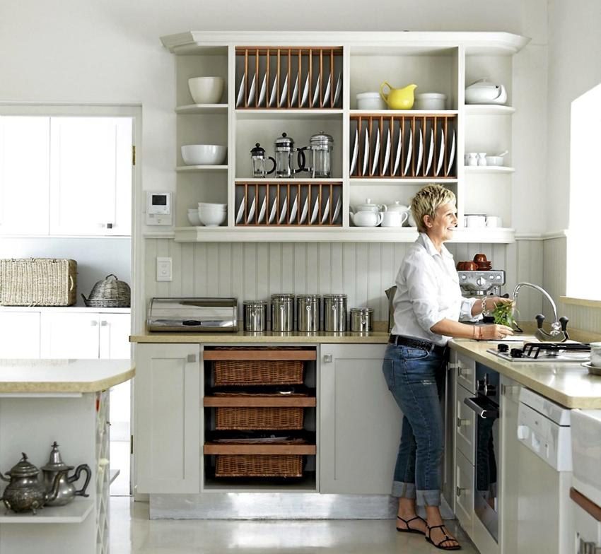 Сушилки, интегрированные в шкаф, бывают прямыми и угловыми