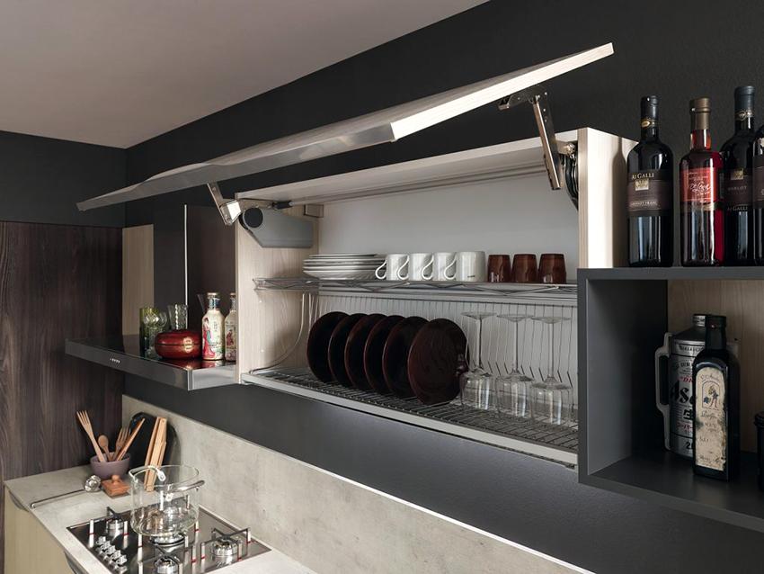 Сушилки, вмонтированные в кухонный шкаф, являются оптимальным решением для кухни
