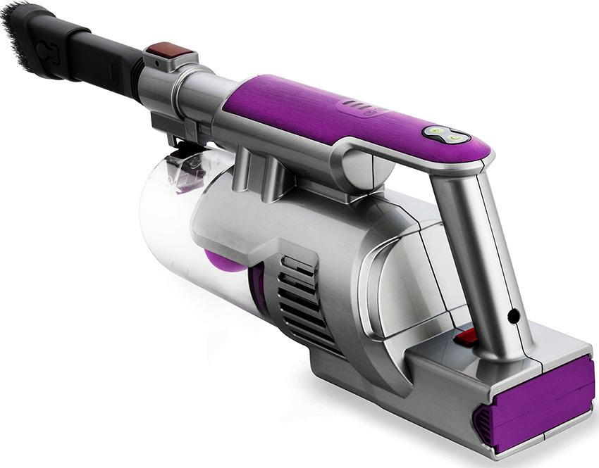 Пылесос Kitfort KT-527 укомплектован турбощеткой для очистки от шерсти и волос