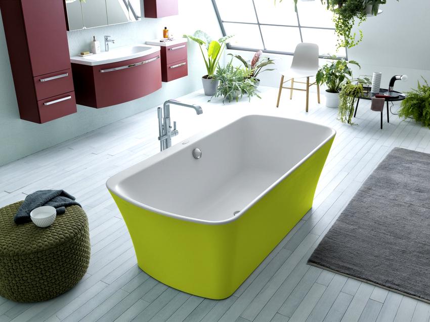Перед покупкой цветной мебели для ванной комнаты необходимо учитывать все тонкости цветового восприятия человеческим организмом