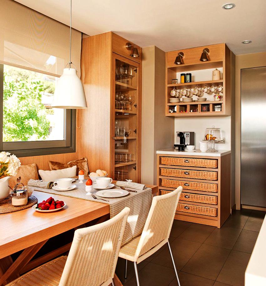 Комод на кухне станет полезным и красивым элементом интерьера
