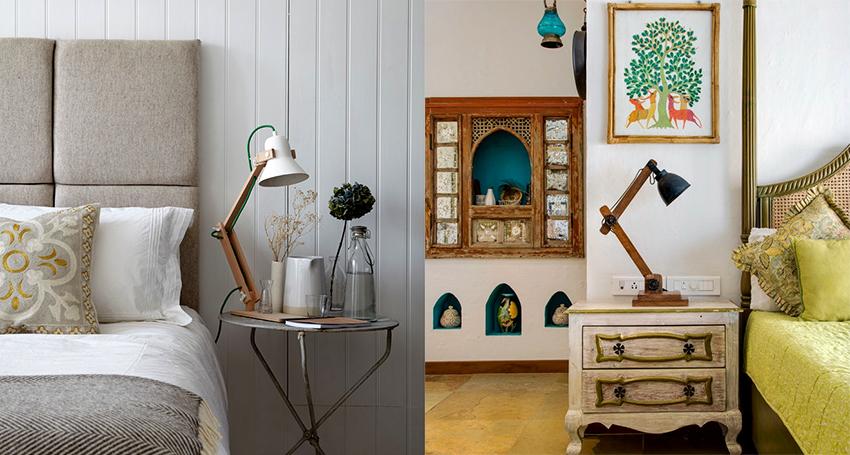 Настольные лампы из дерева подходят для разных направлений дизайна