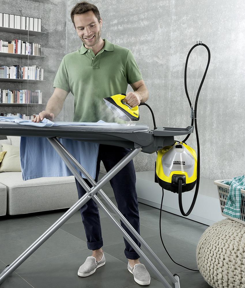 Пароочиститель с утюгом способен разгладить ткани любой сложности