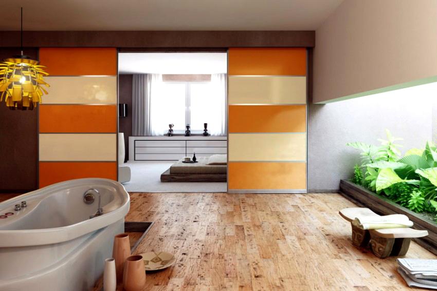 Раздвижная дверь-перегородка может заменить полностью стену