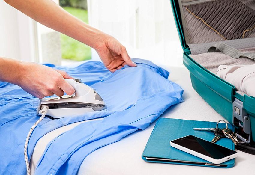 Дорожный утюг позволит быстро привести одежду в надлежащий вид