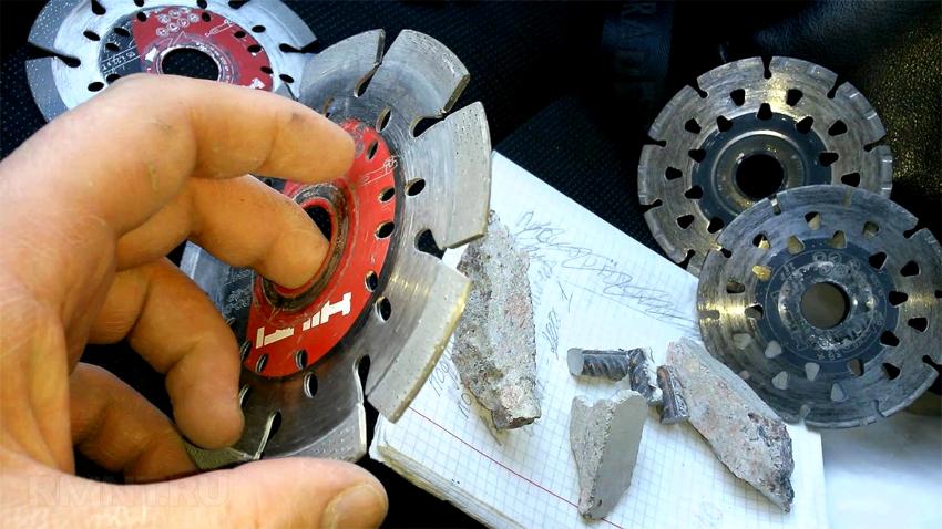 Сегментные диски для штроборезов имеют алмазное дополнение в виде секторов, между которыми есть пазы для охлаждения и отвода мусора