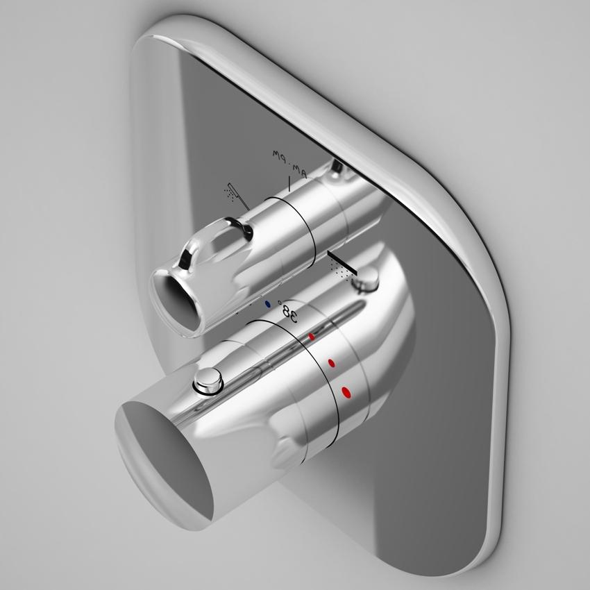 Смесители с термостатом применяются для умывальника, ванны, душевой кабинки и кухни