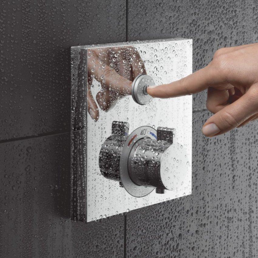 Смесители с термостатом могут быть механическими, электронными и сенсорными