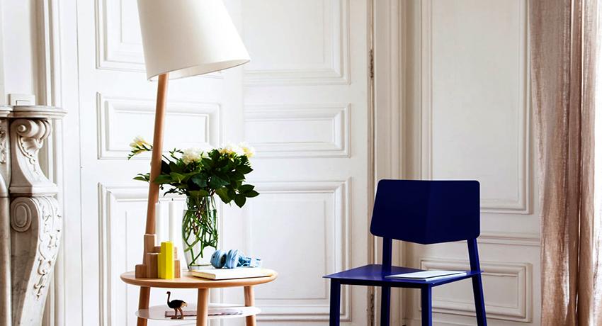 Торшер со столиком: функциональный и удобный способ украшения помещения