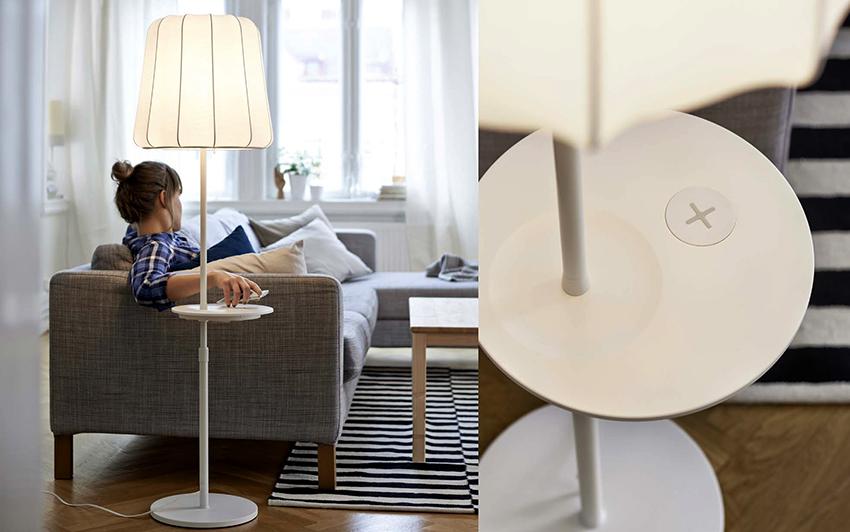 Торшеры со столиками – оптимальное решение для маленьких комнат