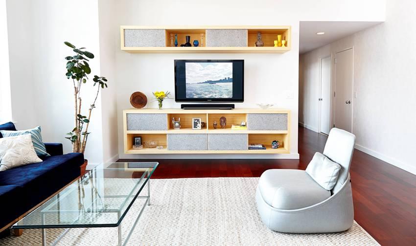 Размеры тумбы под телевизор нужно выбирать исходя из габаритов помещения и личных предпочтений