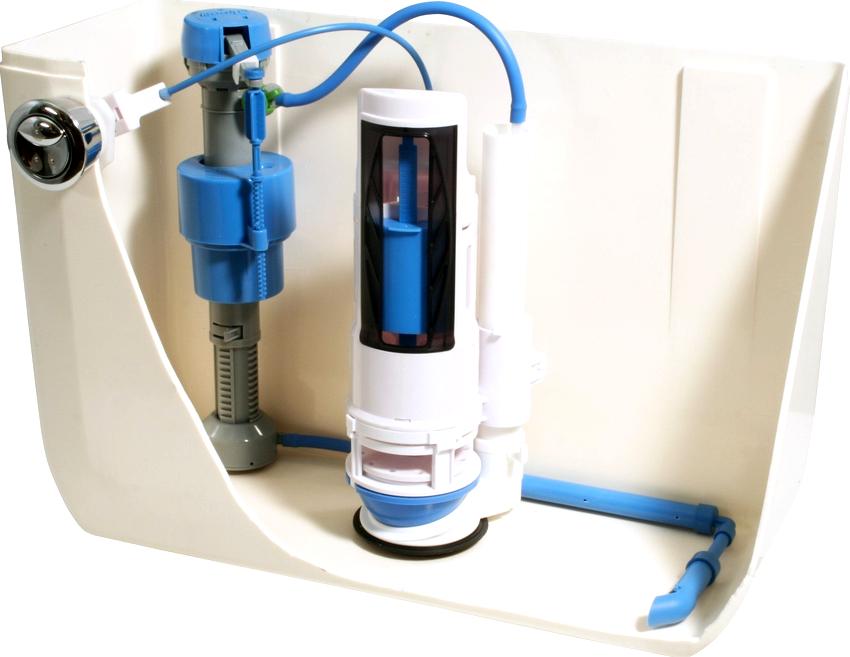 Унитазы зарубежного производства комплектуются арматурой с нижним типом подводки