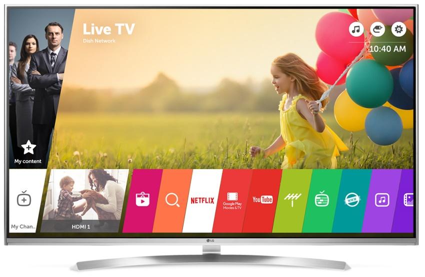 Смарт-телевизоры LG работают на базе операционной системы WebOC