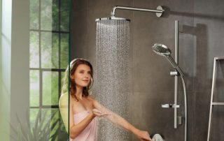 Душевая стойка с тропическим душем и смесителем: полноценный домашний релакс