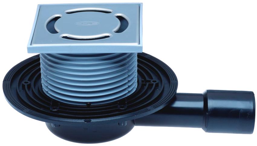Канализационный трап с гидрозатвором состоит из сифона со съемной решеткой, приемной воронки и отвода
