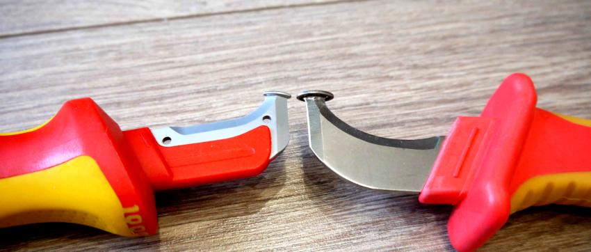 Достоинства кабельного ножа - это его цена, а также практичность и удобство использования