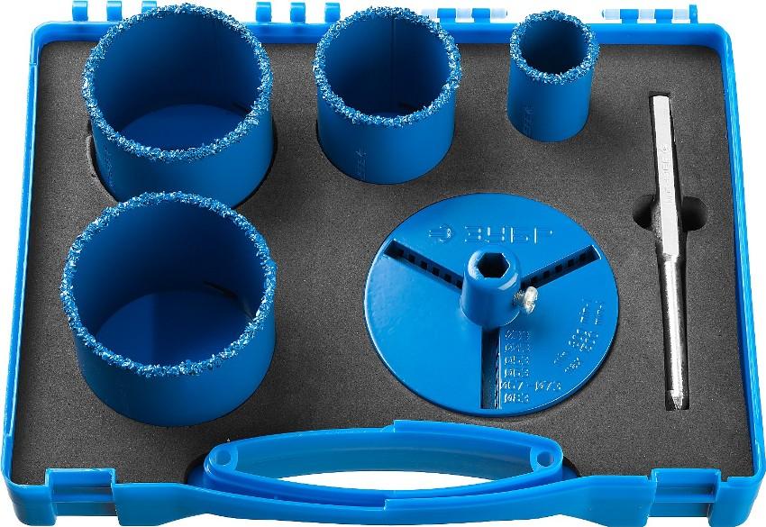 Отверстия после коронок «Зубр» получаются аккуратными, с гладкой внутренней поверхностью