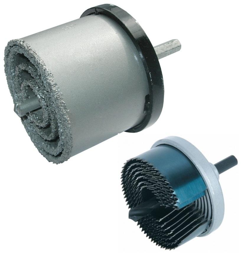 Корончатые сверла, используемые для обработки изделий из металла, также известны под названием «кольцевые фрезы»