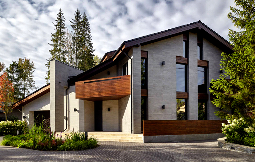 Цементная штукатурка подходит для отделки бетонных, блочных и кирпичных домов