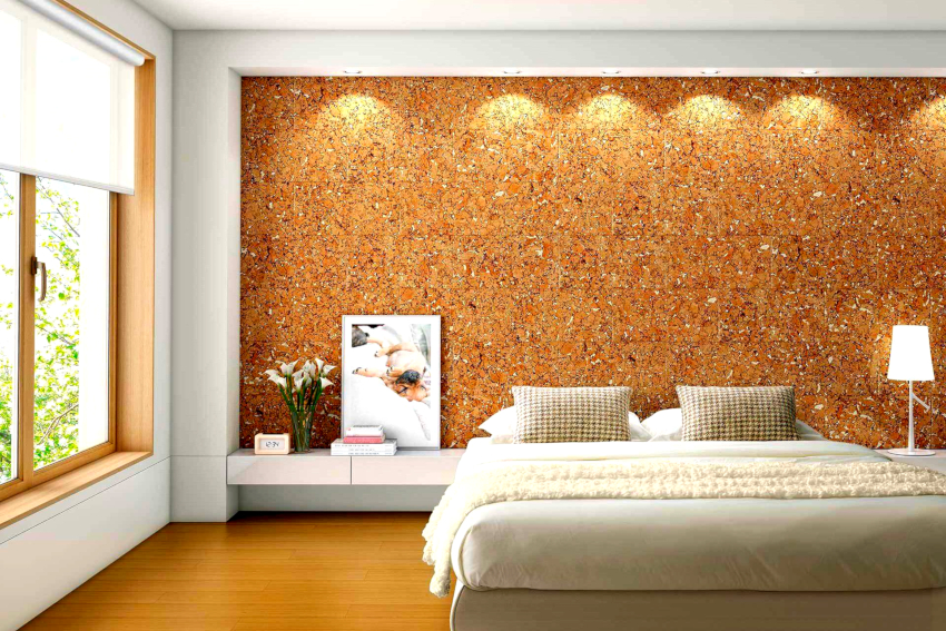 Из пробкового дерева изготавливают оригинальное покрытие для стен: обои, рулоны, панели