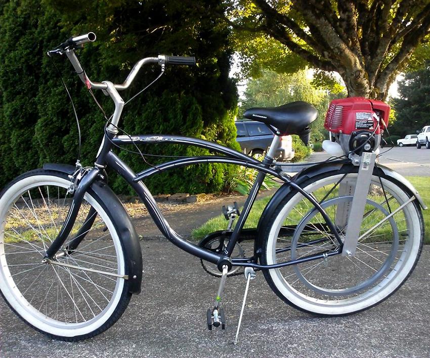Для велосипеда понадобиться не только двигатель от бензопилы, но также и редуктор