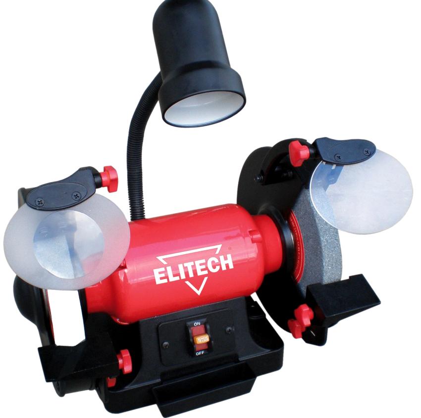 Для работы с тонкими лезвиями модель станка Elitech CT600C оснащена увеличительным стеклом