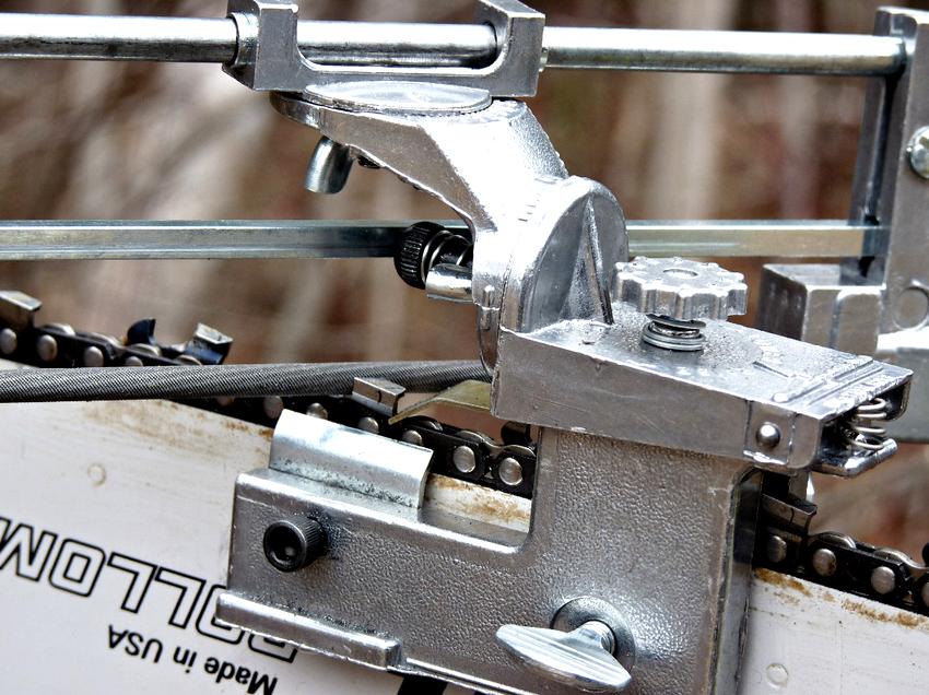 Станок для заточки цепей бензопил: надежный помощник домашнего мастера
