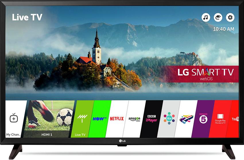 Смарт-телевизор LG 32LJ610V имеет угол обзора 180 градусов