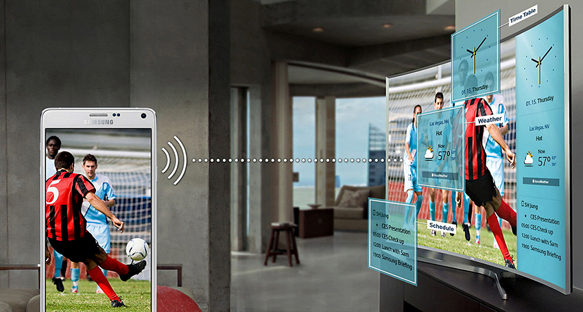 Многие модели смарт-телевизоров поддерживают трансляции с телефона