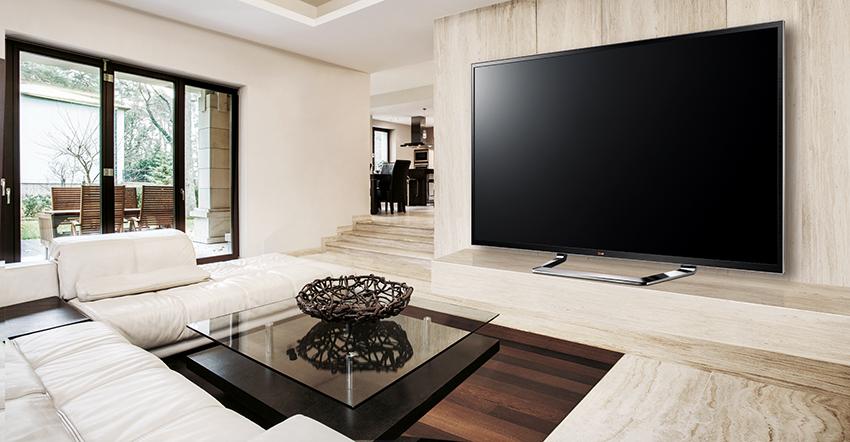 Выбирая размер телевизора необходимо учитывать с какого расстояния планируется просмотр