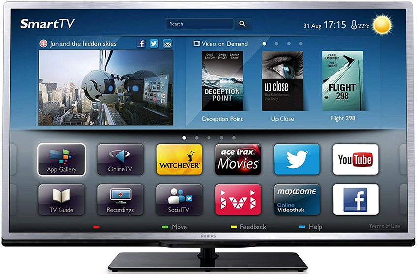 Телевизоры с функцией Smart TV должны иметь удобный и понятный интерфейс